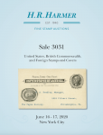 H. R. Harmer Inc Sale 3031 United States & British Commonwealth Stamps and Covers