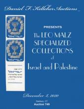 Daniel F. Kelleher Auctions Sale 749 The Leo Malz Specialized Collections of Israel and Palestine
