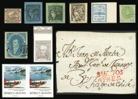 Guillermo Jalil - Philatino Auction # 2034 ARGENTINA: small but very attractive auction