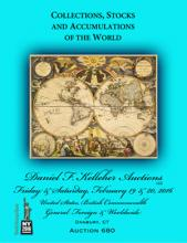 Daniel F. Kelleher Auctions Auction #680 - Collections, Stocks and Accumulations of the World