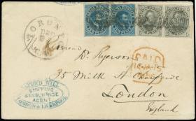 H. R. Harmer Inc Sale #3015 - Selection of Classic British North America and United States Postal History from the Joseph Hackmey Collection